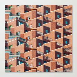 A Study of Balconies Canvas Print