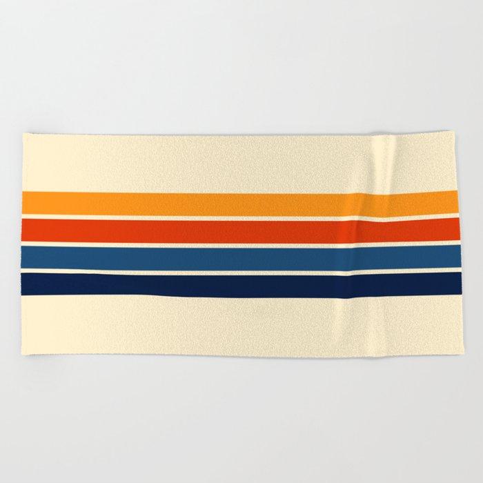 Classic Retro Stripes Beach Towel