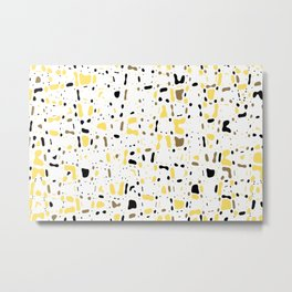 Coffee spots, simple abstract illustration in delicate colors,texture design, pattern Metal Print