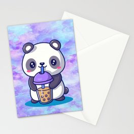 Boba Panda Stationery Cards