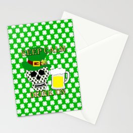 Keep Calm Drink On - St Patrick Day Stationery Cards