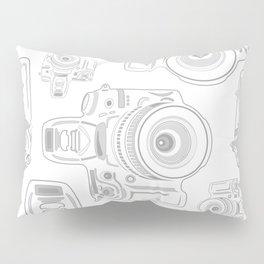 Grey Cameras Pillow Sham