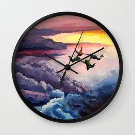 Sky-Diving Acrylic Wall Clock