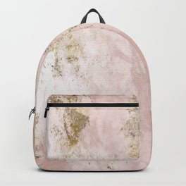 Marble Pattern in Pink and Gold Backpack