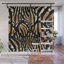 Zebra snake print Wall Mural
