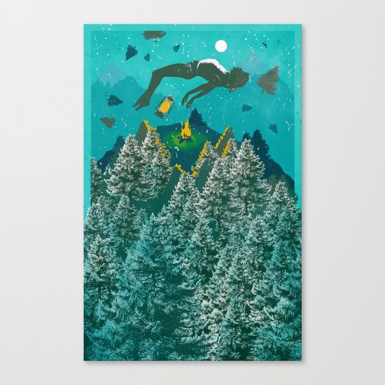 FLOATING FOREST BLUE Canvas Print