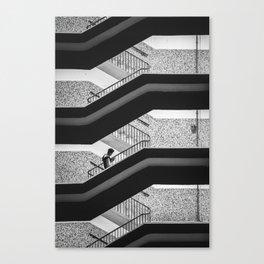 Man, Staircase Canvas Print