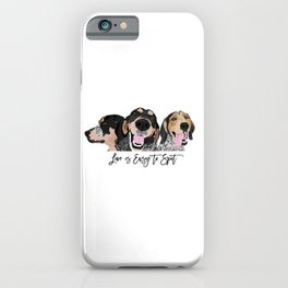 Love is Easy to Spot Bluetick Coonhound iPhone Case