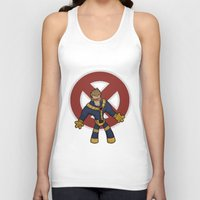 cyclops Tank Tops featuring Cyclops by Twisted Dredz