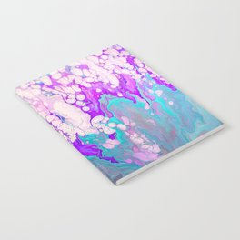 White Bubbles Fluid Painting Notebook