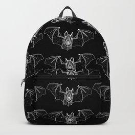Batgina on black pattern Backpack