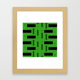 Pattern of Squares in deep Green Framed Art Print