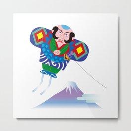 Japanese Kite and Mt.Fuji Metal Print