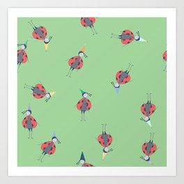 Ladybug Birthday Art Print