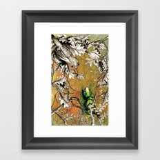 The Nightingale and the Lizard Framed Art Print