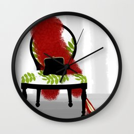 A Woman's Night Out - Dressing room art Wall Clock