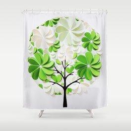 Green tree Shower Curtain