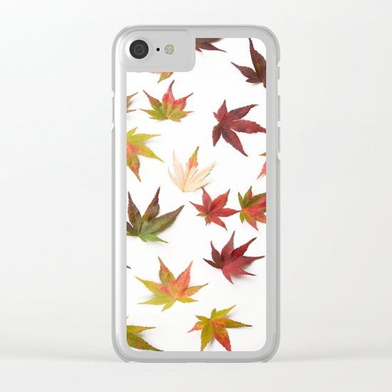 AUTUMN LEAVES PATTERN #1 #decor #art #society6 Clear iPhone Case