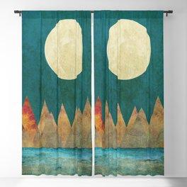 Still Waters Run Deep, Mountains Moon Landscape Blackout Curtain