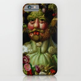 "Giuseppe Arcimboldo ""Holy Roman Emperor Rudolf II re-imagined as Vertumnus"" iPhone Case"