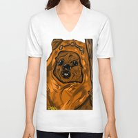 ewok V-neck T-shirts featuring Ewok by Art of Fernie