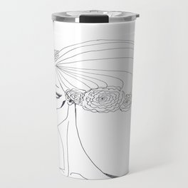 flowers in a hair Travel Mug
