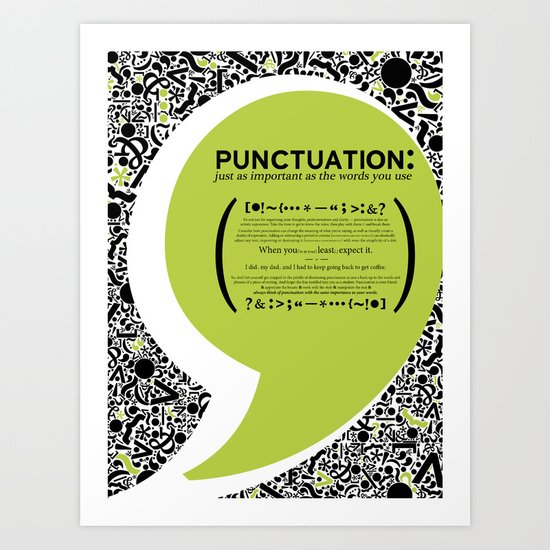 Punctuation [Appreciation]. Art Print