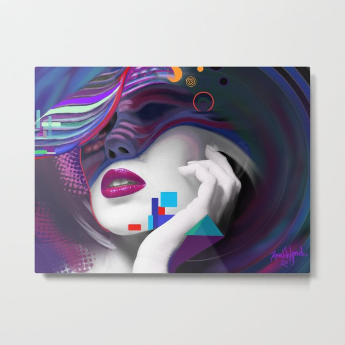 Colourful Repose Metal Print