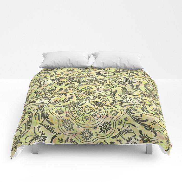 Watercolor Damask Pattern 03 Comforters