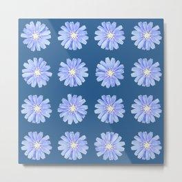 Blue Wildflower Metal Print