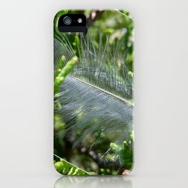 A stray feather iPhone Case