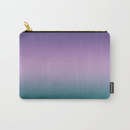 Ultra Violet Lilac Quetzal Green Gradient Pattern Carry-All Pouch