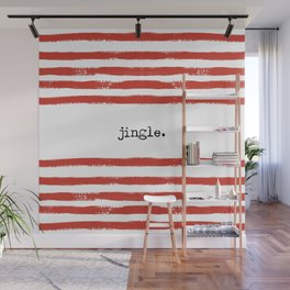 red stripes-jingle Wall Mural