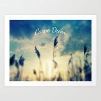 carpe diem Art Prints featuring Carpe Diem by Sandra Arduini