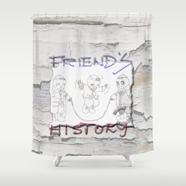 Enjoy Friends Shower Curtain