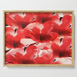 Red Poppies - Painterly Serving Tray