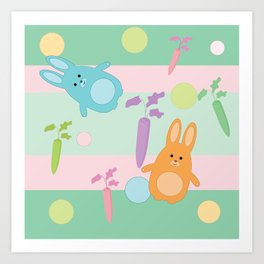 Pastel Bunnies Art Print