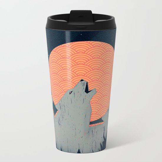 Howling Moon Metal Travel Mug