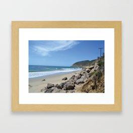 Malibu, CA Framed Art Print