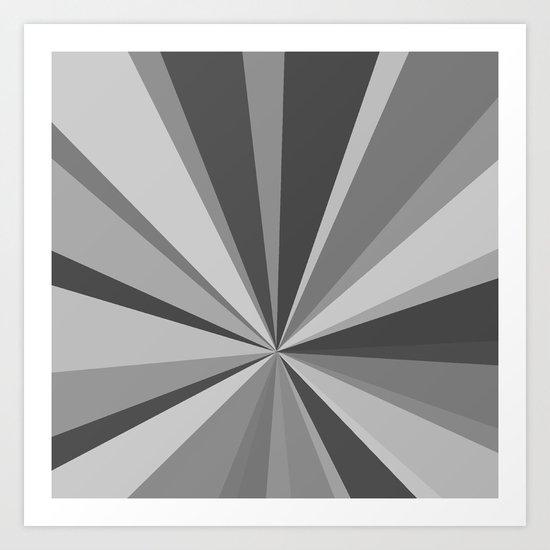 Monochrome Starburst Art Print