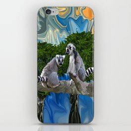 Playful Lemur-ick  iPhone Skin