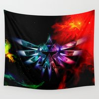 zelda Wall Tapestries featuring Zelda Space by DavinciArt