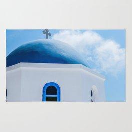 Greek Orthodox Church Oia Santorini Greece Rug