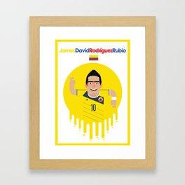 James Rodriguez - Colombia Framed Art Print