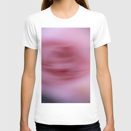 Abstract blurred pink roses T-shirt