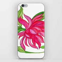Waterolour Pink Lotus Flower iPhone Skin