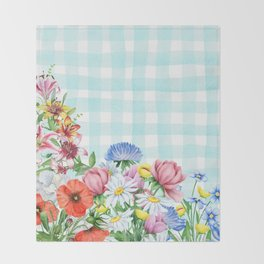 Fabulous Flowers Throw Blanket