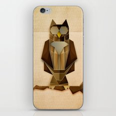 Owl riffic paper cutout vector jazz iPhone & iPod Skin