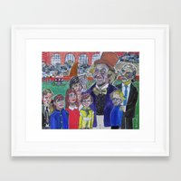 willy wonka Framed Art Prints featuring Willy Wonka by Robert E. Richards