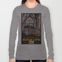 Vintage poster - Buchnan Caves Long Sleeve T-shirt